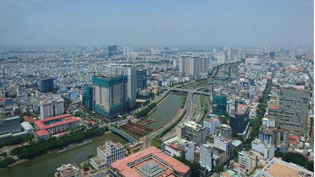 Thành phố Hồ Chí Minh nhìn từ trên cao (Ảnh: SCMP)