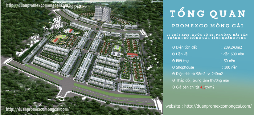 Tổng quan dự án Promexco Hải Yên Móng Cái