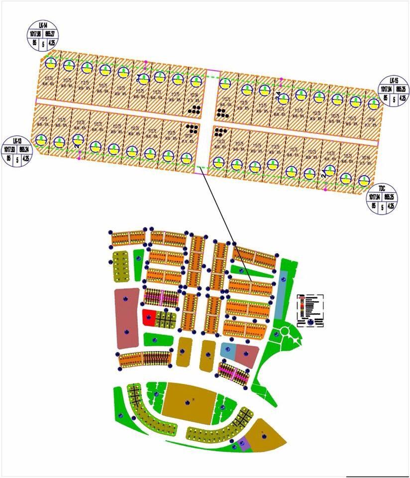 Vị trí liền kề LK 13-LK14 khi mở bán dự án Promexco Móng Cái